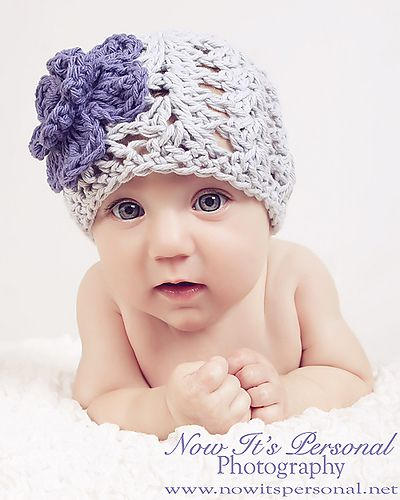 Hat With Flower 117 Pattern By Posh Patterns Pinterest Baby