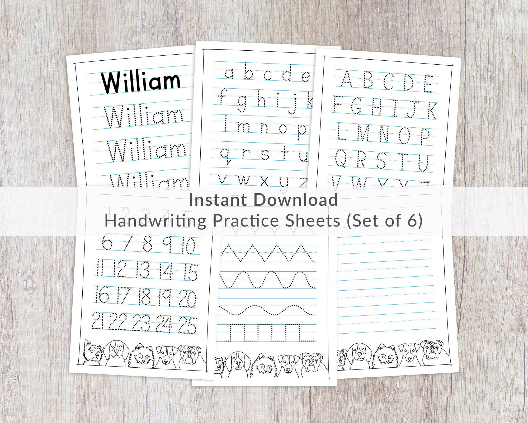 Name Tracing Worksheets Prints Printable Handwriting