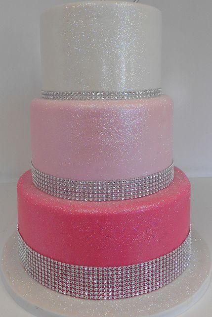 Bling Birthday Cake Tiered Pink Bling Birthday Cake