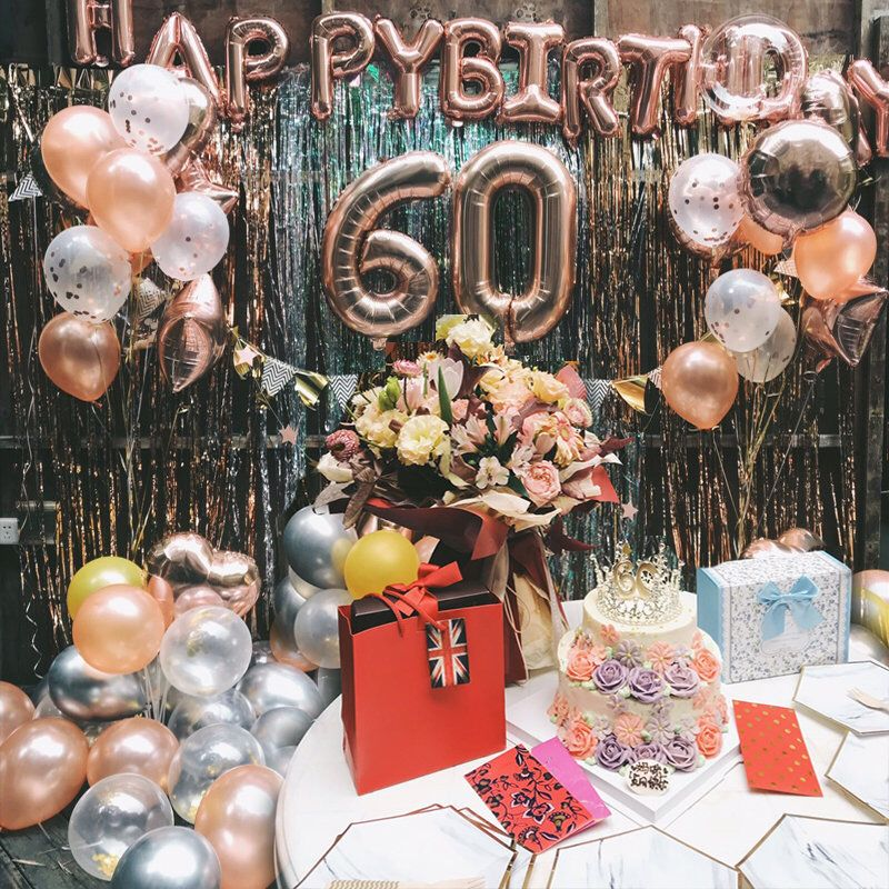 Black and Gold 60th Birthday Decorations 60 Number Confetti. 60th Birthday Ideas