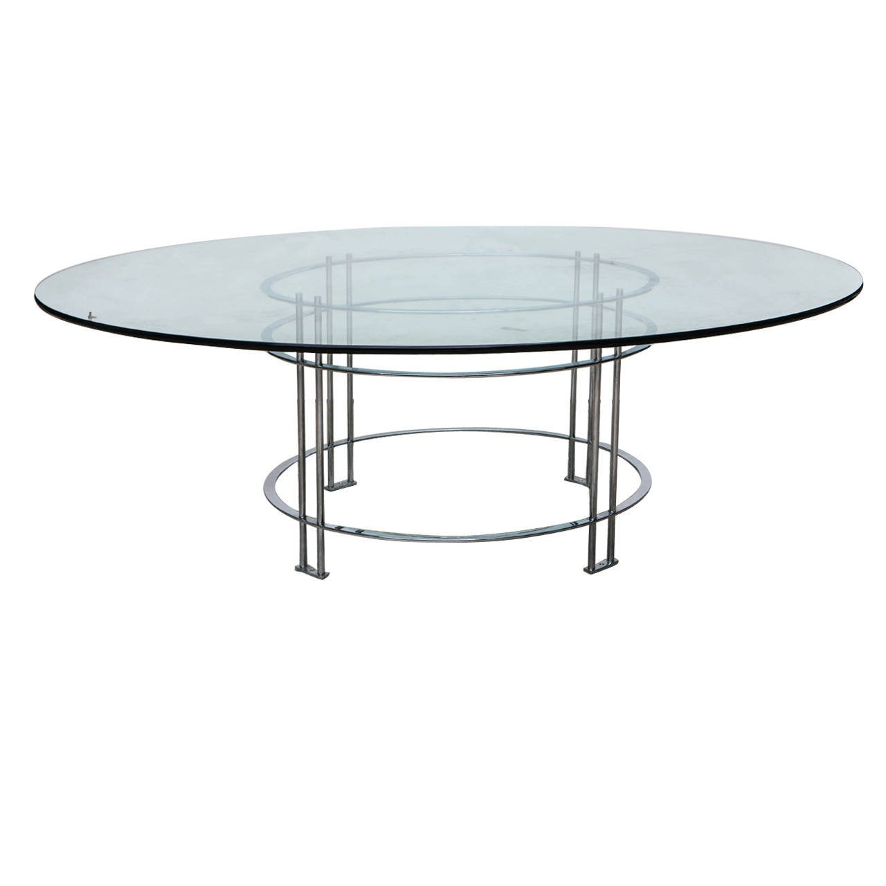 Vintage Round Dining Table With Glass Top Round Dining Round