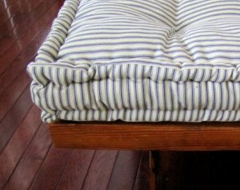 Custom Bench Cushion Red Plaid Window Seat By Gratefulhome