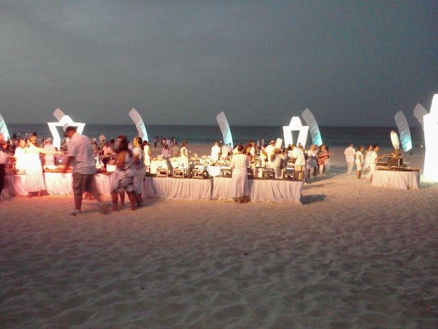 Wow! Our last dinner on the beach...