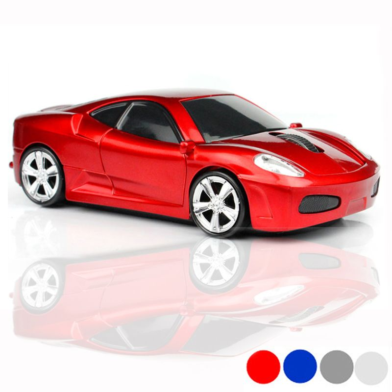 Computer Mouse Sports Car Shape Wireless Mouse 1600 DPI  Price
