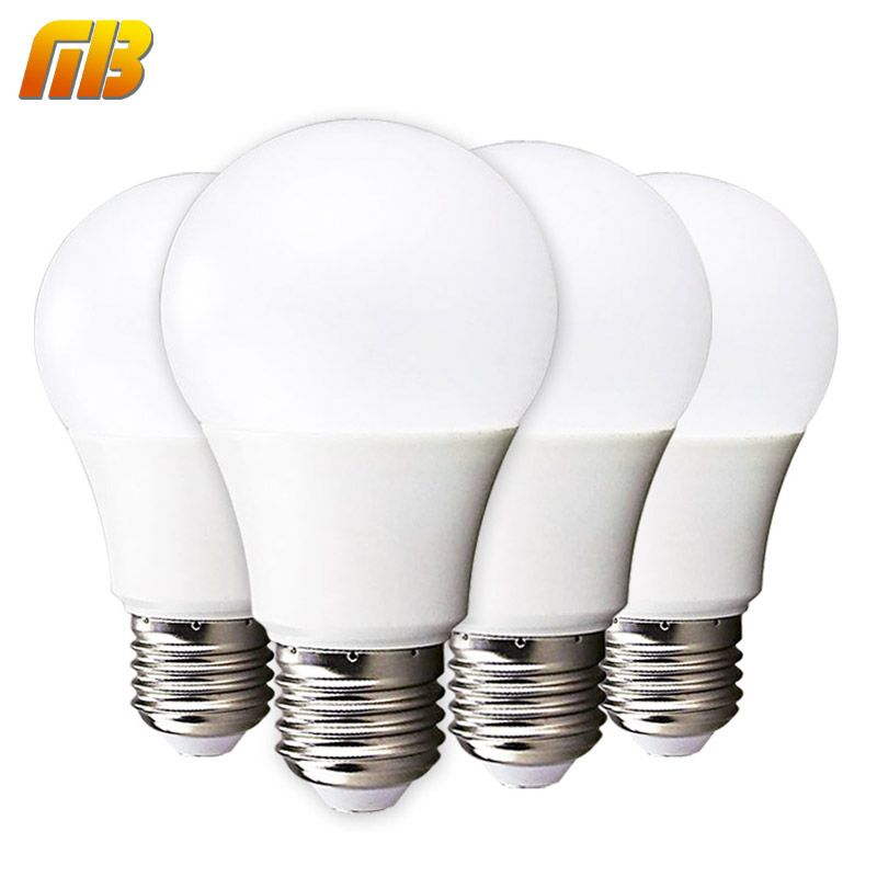 Mingben 4 Pcs Led Ampoule Lampe E27 3 W 5 W 7 W 9 W 12 W 15 W 220 V Blanc Froid Blanc Chaud Lampada Ampoule Bombilla Led Lamp Light Bulb Lighting
