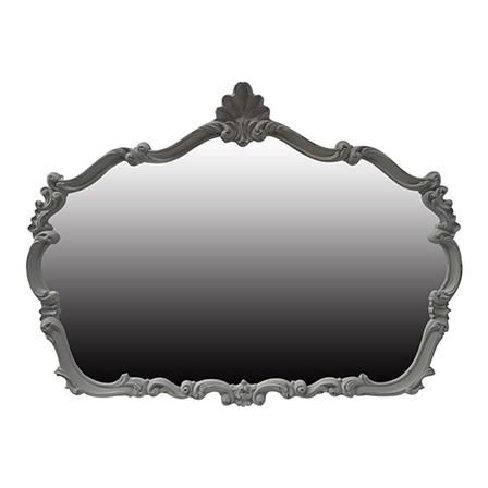 ACHICA | French Style Overmantle Mirror, Grey