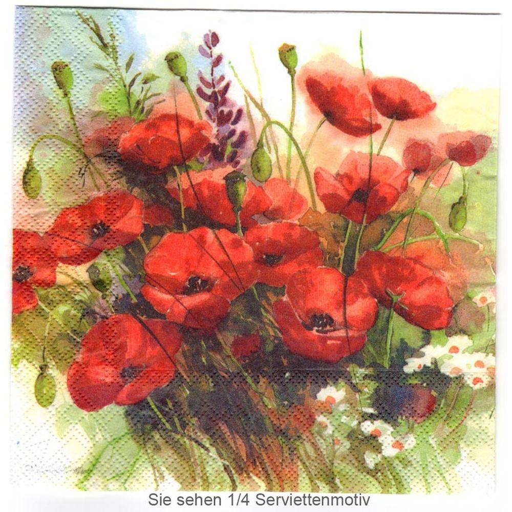 Gezeichnete Mohnblumen 1 Lunch Serviette Mohnblume Blumen Zeichnen Und Mohn