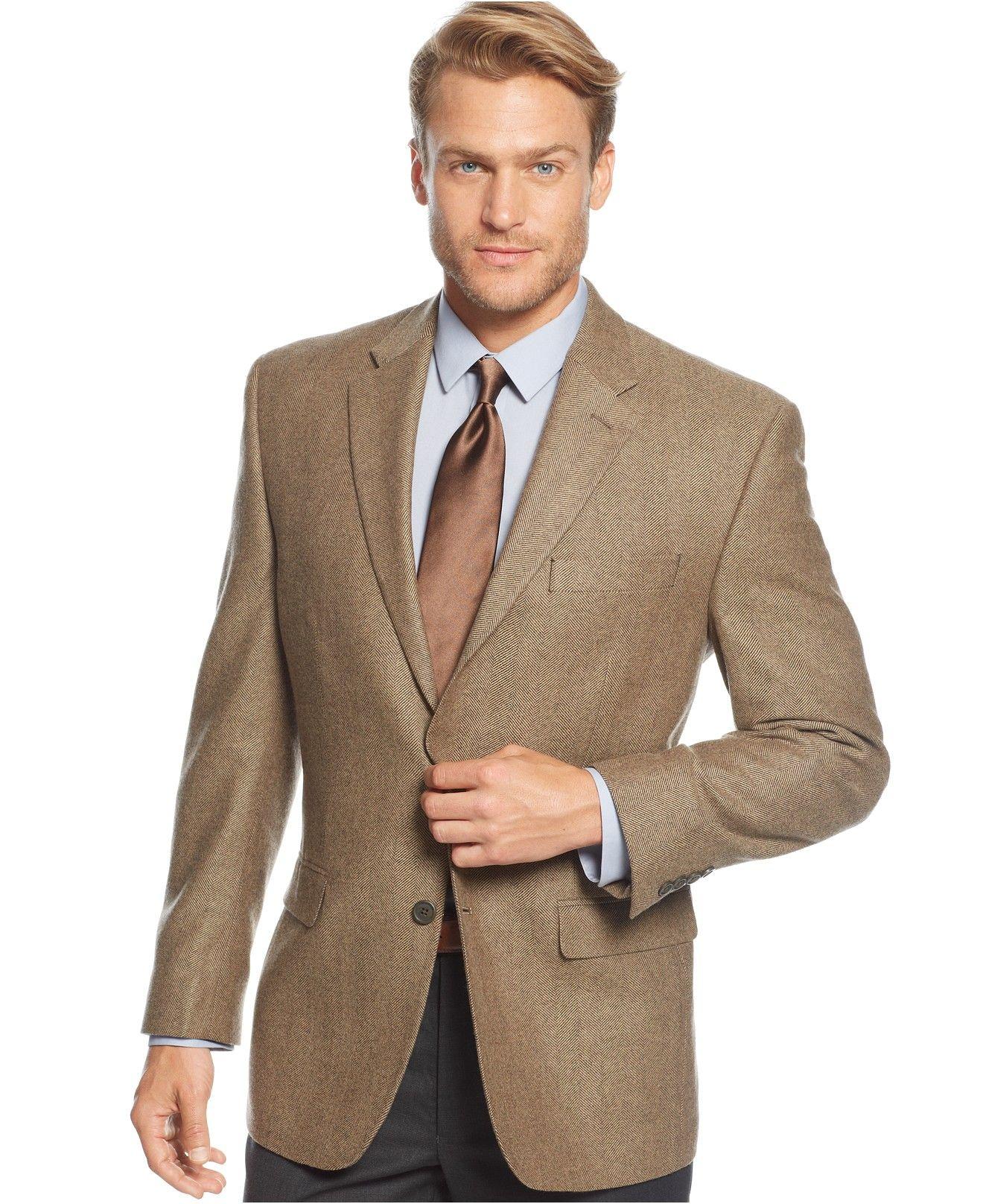 Lauren Ralph Lauren Cashmere-Blend Herringbone Classic-Fit Sport Coat -  Blazers & Sport Coats - Men - Macy's