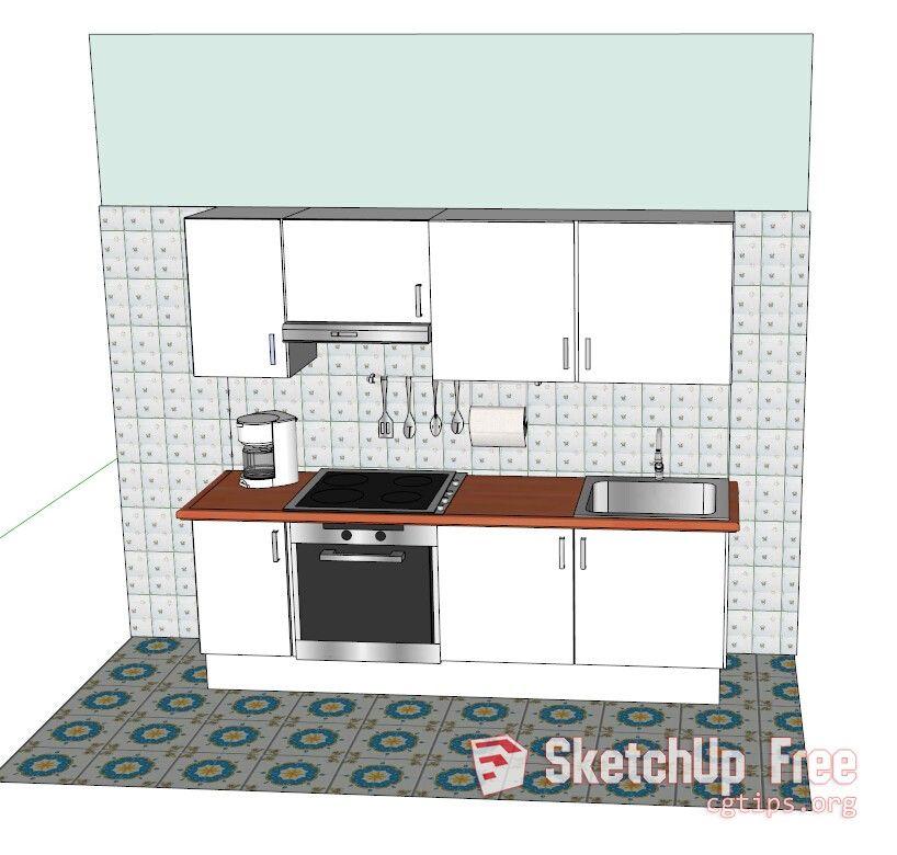 1342 Kitchen Sketchup Model Free Download Kitchen Remodel Design