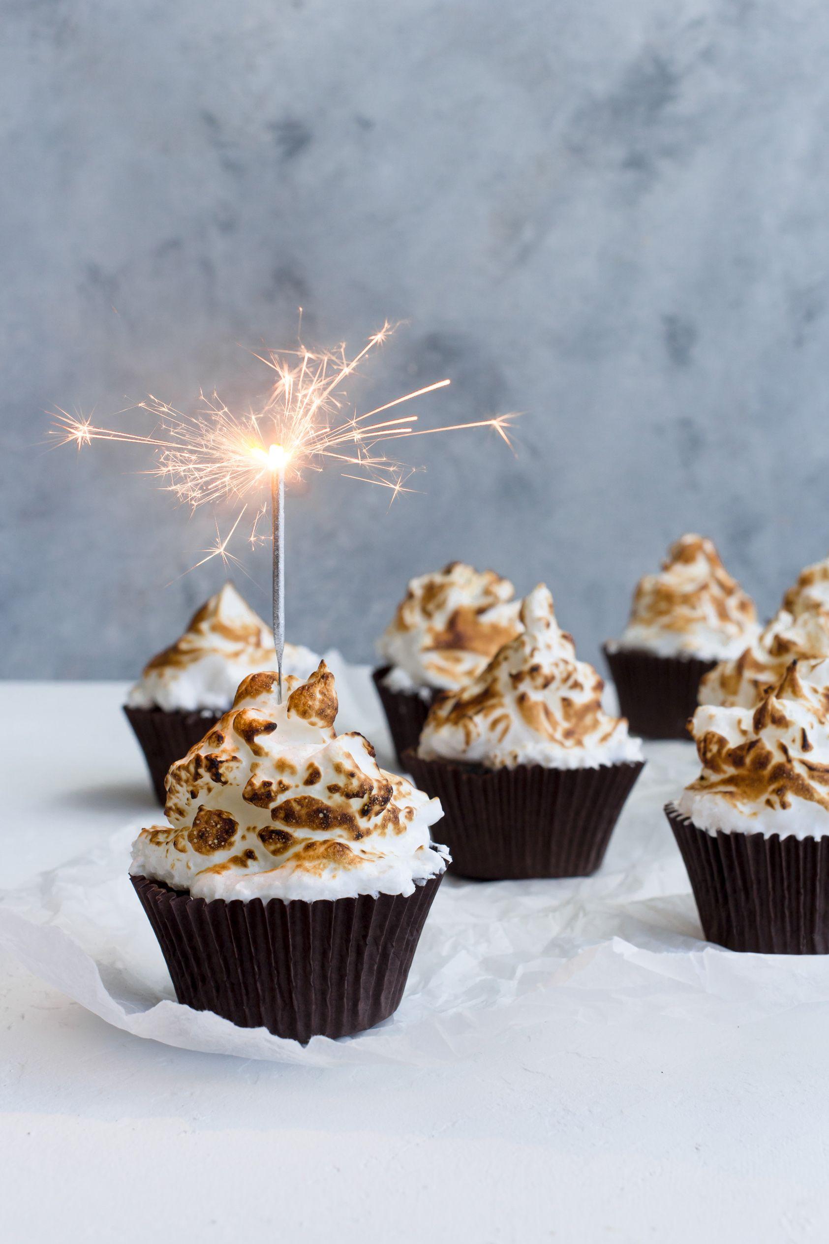 Bonfire Brownie Cupcakes Brownie Cupcakes Bonfire Night Treats