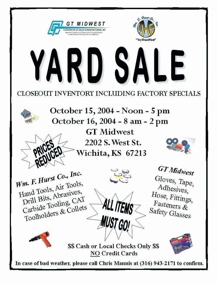 Yard Sale Flyer Template Word Lovely Yard Sale Flyer Template Garage Sale Flyers 8 Yard Sale Sale Flyer Yard Sale Flyer