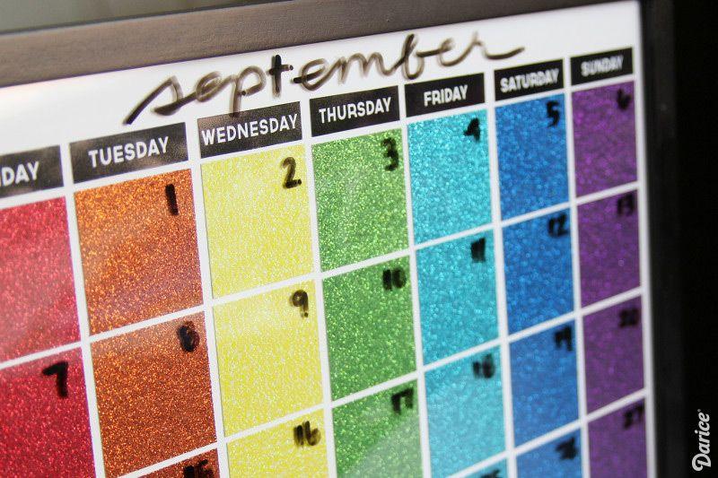 DIY Calendar Dry Erase Calendar Tutorial - Darice DIYs