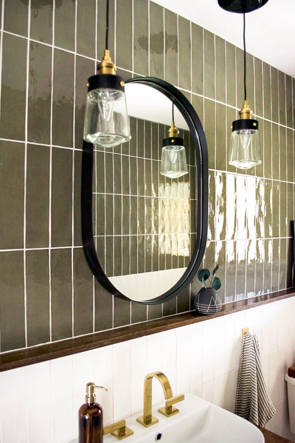 pin by whitney nicole on lindstrom house hanging pendant on custom bathroom vanity mirrors id=15288
