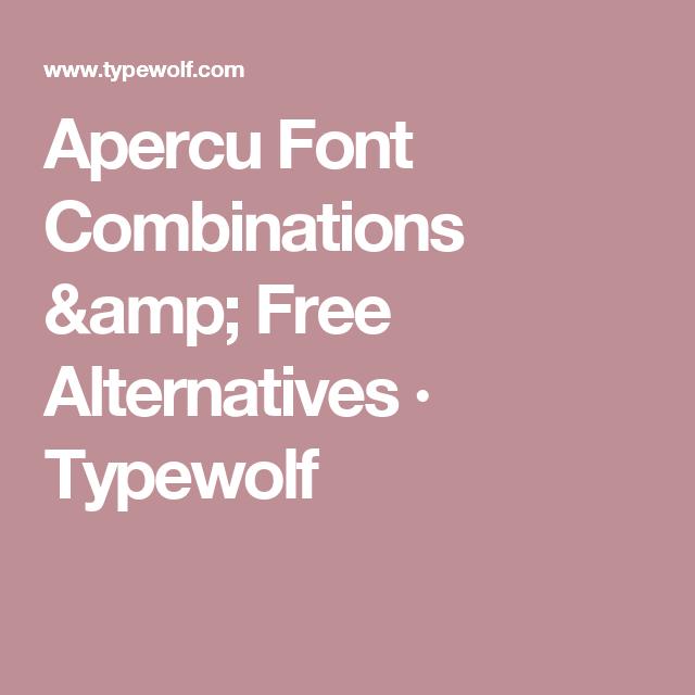 Apercu Font Combinations & Free Alternatives · Typewolf