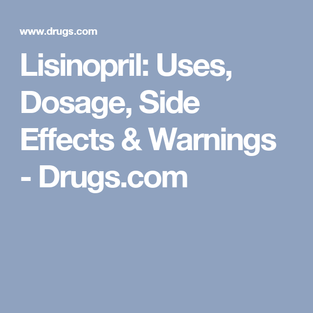 Long term side effects of lisinopril