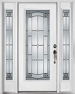 White Entry Doors fiberglass front doors with glass elan style | decorative entry