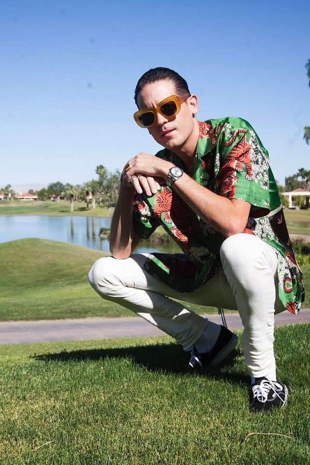 a8a4fde81f6960 G-Eazy wearing Gucci Tiger Button Down Shirt