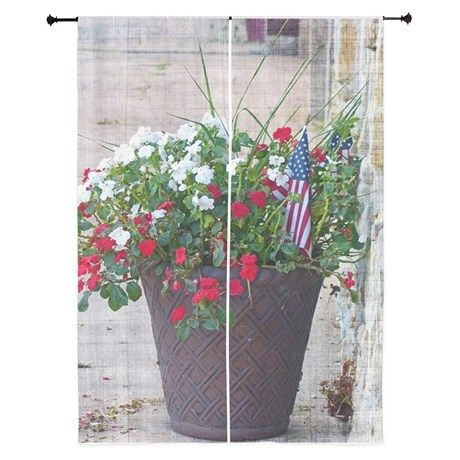 Flowers & Flags Curtains on CafePress.com