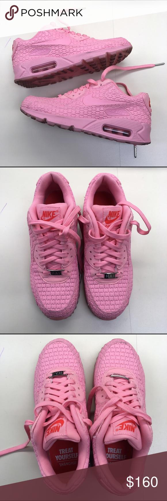2dc46b975e47 denmark rare women nike pink light grey air max 90 premium em weaving shoes  for versatile 5ed21 ab175  italy rare nike air max 90 shanghai worn twice.