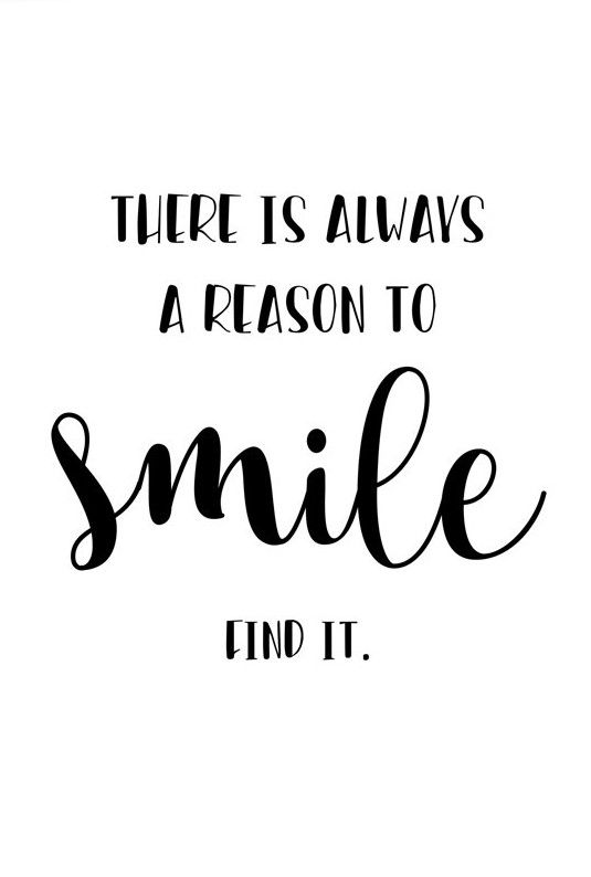 Quote Print Smile, Digital Download Art, Printable Wall Art, Black White Print, Printable Quote, Typography Print, Wall Art Quote, Art Print