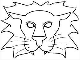 image result for lion mask templates - Masque Lion