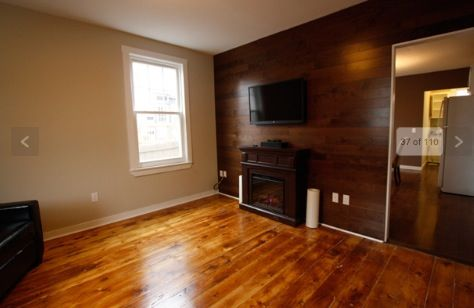 would love to take wood laminate & do an accent wall like this