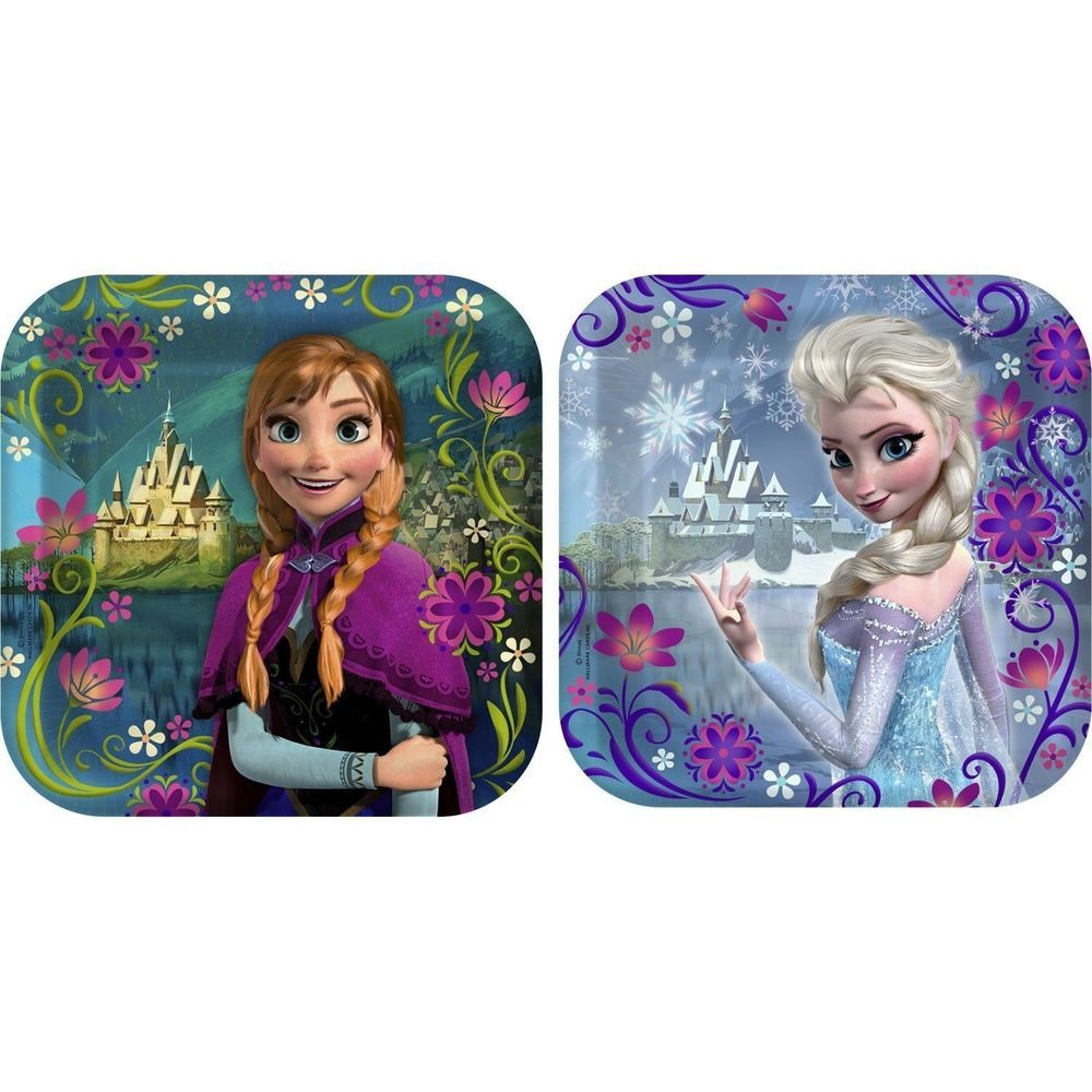 8 Disney Frozen Snow Queen Party Disposable 7in Square Dessert Paper Plates #Party #Birthday  sc 1 st  Pinterest & 8 Disney Frozen Snow Queen Party Disposable 7in Square Dessert Paper ...
