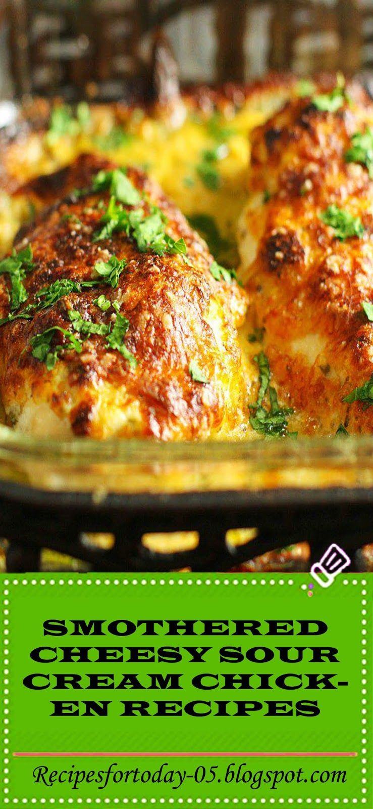 Smothered Cheesy Sour Cream Chicken Recipes Di 2020 Resep Makanan Resep Ayam Makanan
