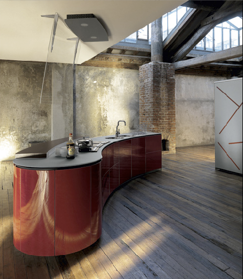 Curvalinear Kitchens, a collaboration between Alessi ...