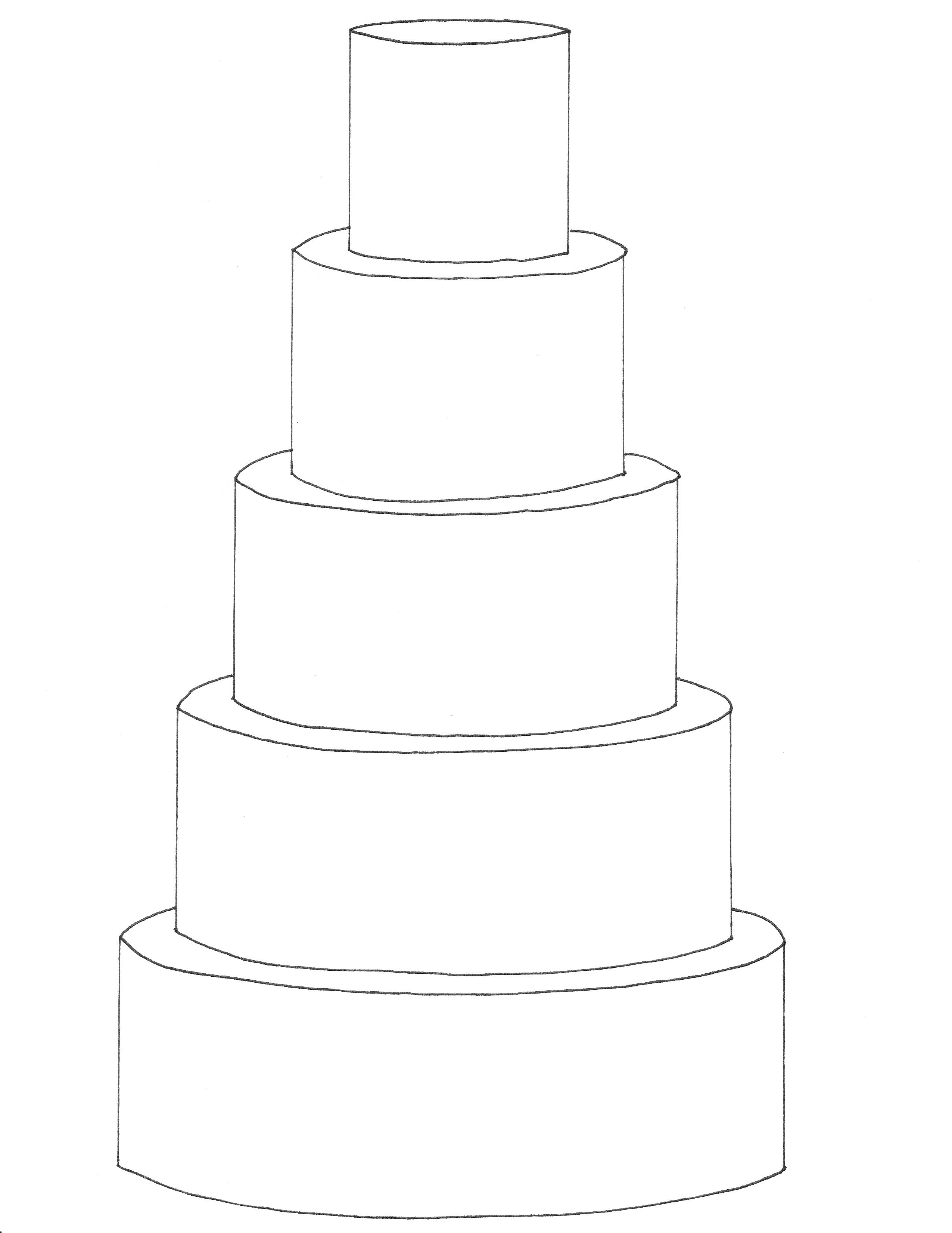 Wedding Cake Drawing Template