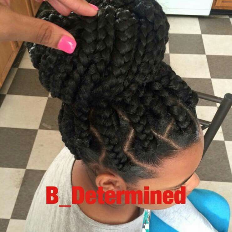 Big Braids Big Parts With Images Natural Hair Styles Box