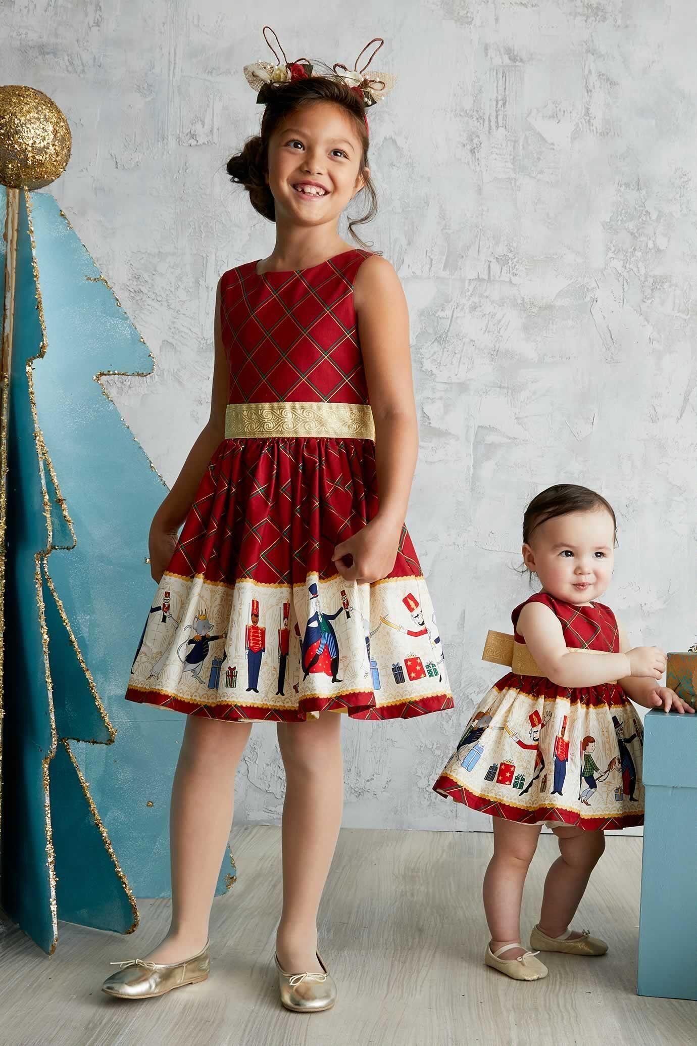 2Pc//Set Toddler Kids Baby Girls Velvet Shirt+Plaid Skirt Dress Outfits Christmas Clothes Set
