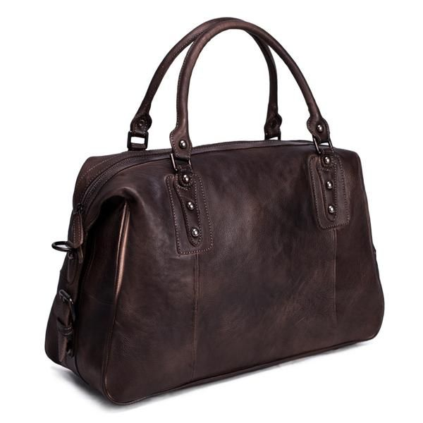 Full Grain Leather Travel Duffel Bag Luggage Carry On Handbags
