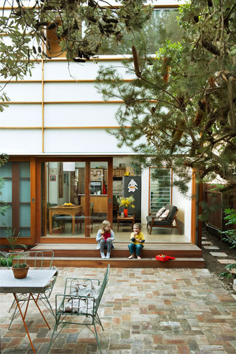 like everything - living leading outside with large glass sliding ...
