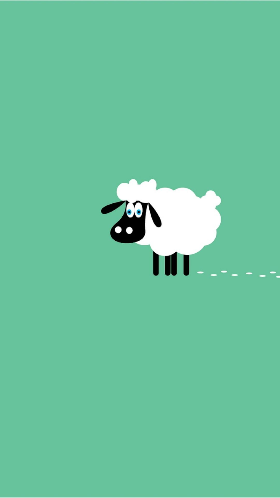 Sheep 9 animals minimalistic wallpapers for iphone - Phone animal wallpapers ...