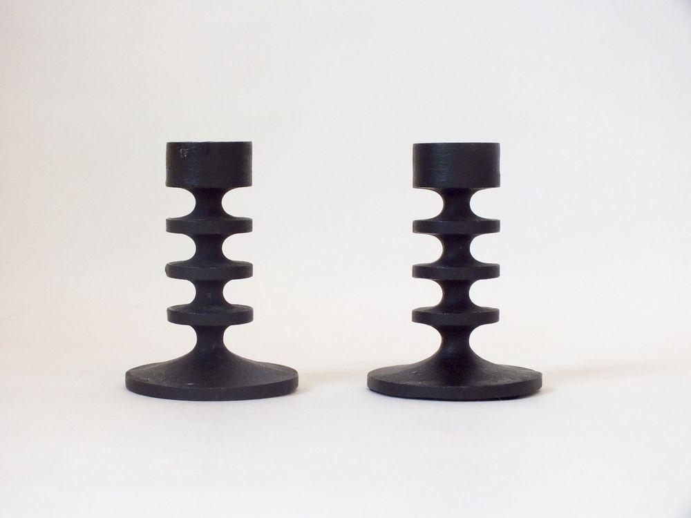 Pair Of Vintage Robert Welch 9cm High Cast Iron Candlesticks  | eBay