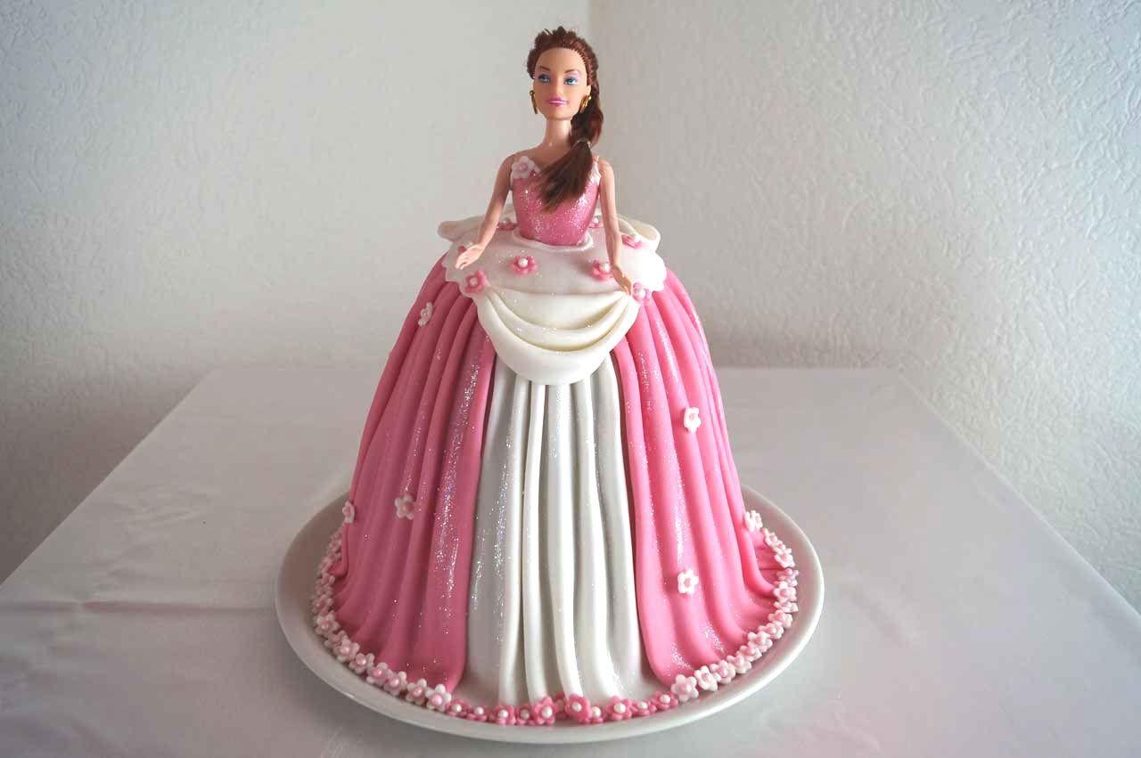 Princess Cake Barbie Torte Barbie Kuchen Tutorial Barbie