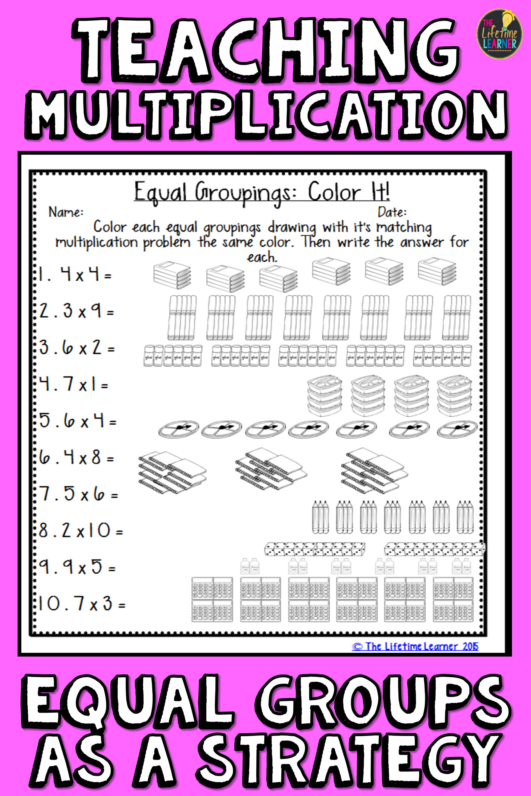 Multiplication Using Equal Groups