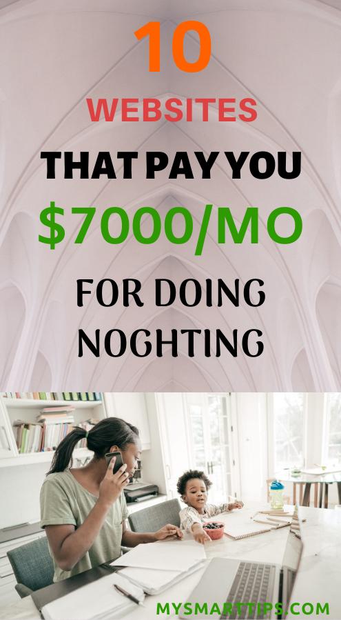 VERDIENEN SIE 7000 USD PRO WOCHE, UM NICHTS ZU TUN ARBEITEN VON ZU HAUSE AUS   – Make Money Online Fast