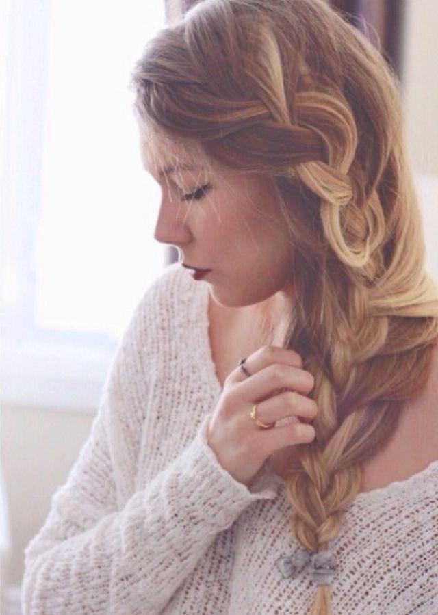 Loose Braid // | Hair styles, Loose braids, Braids