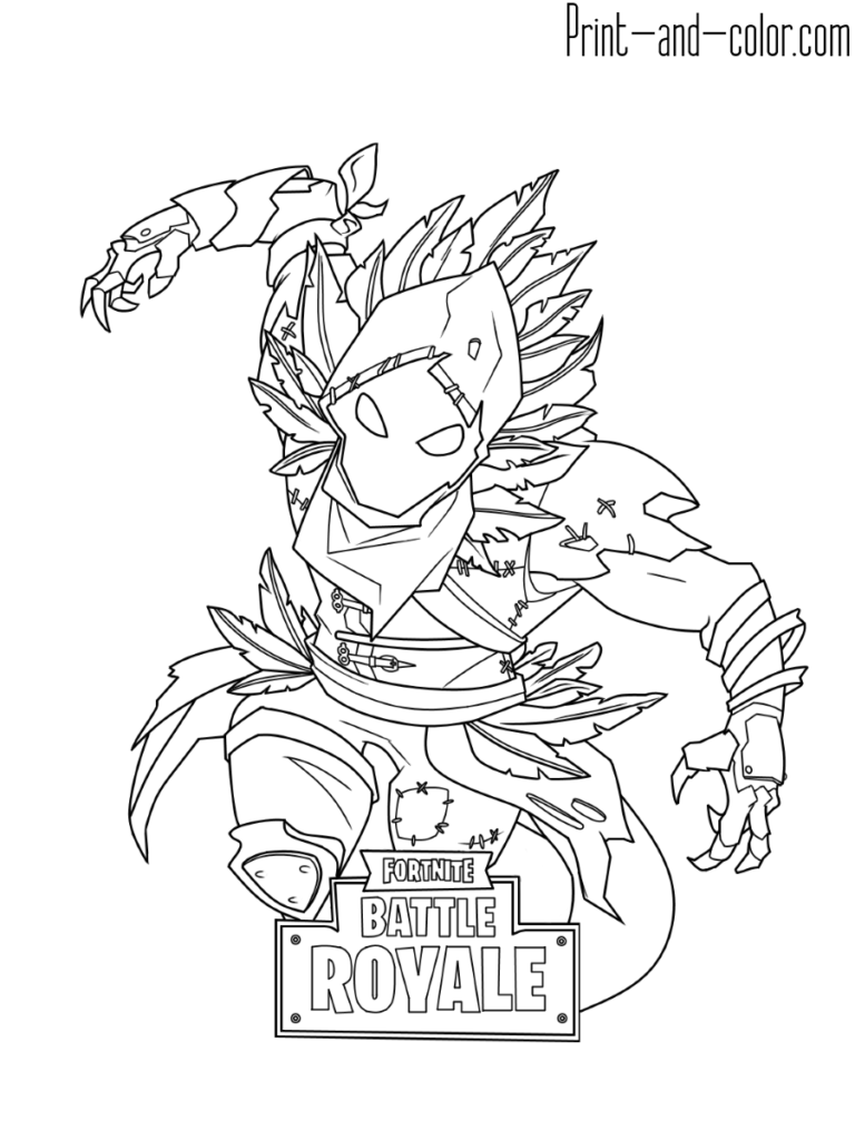 Ice King Fortnite Coloring Page
