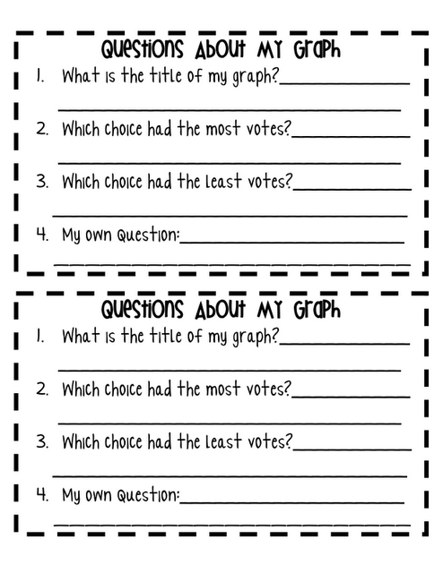 Here S A Set Pages For Students To Survey Another Class Generate A Graph And Then Answer Questions About It Graphing First Grade Graphing Activities First Grade Math