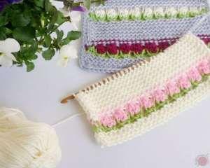 Tunisian Crochet Elephant Baby Blanket • Pattern by RaffamusaDesigns