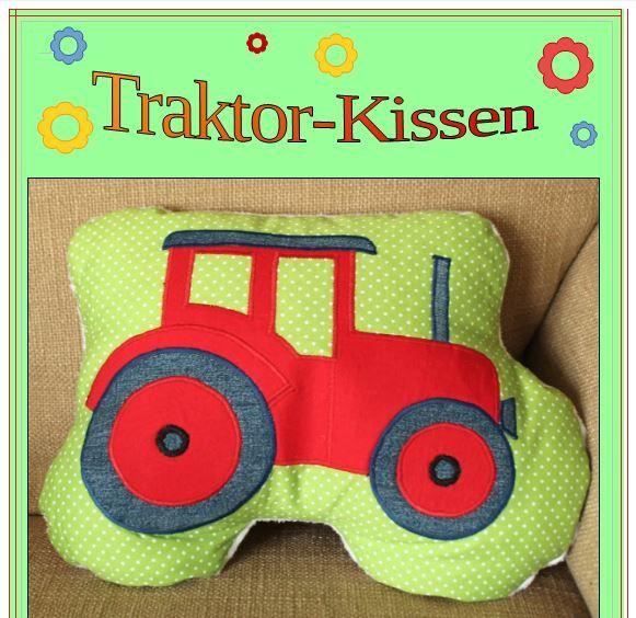 freebook traktor kissen n hen kissen n hen. Black Bedroom Furniture Sets. Home Design Ideas