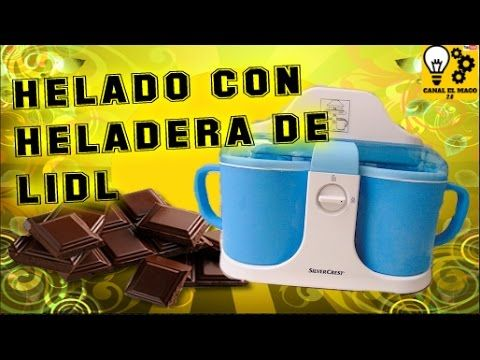 Helado de chocolate con heladera Lidl - YouTube