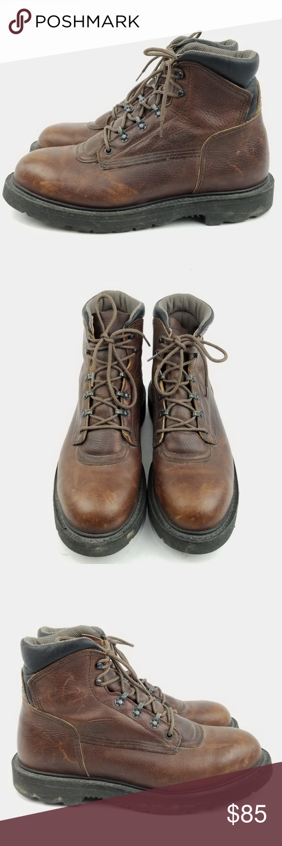 RED WING EH TruWelt Brown Boots 9.5 D