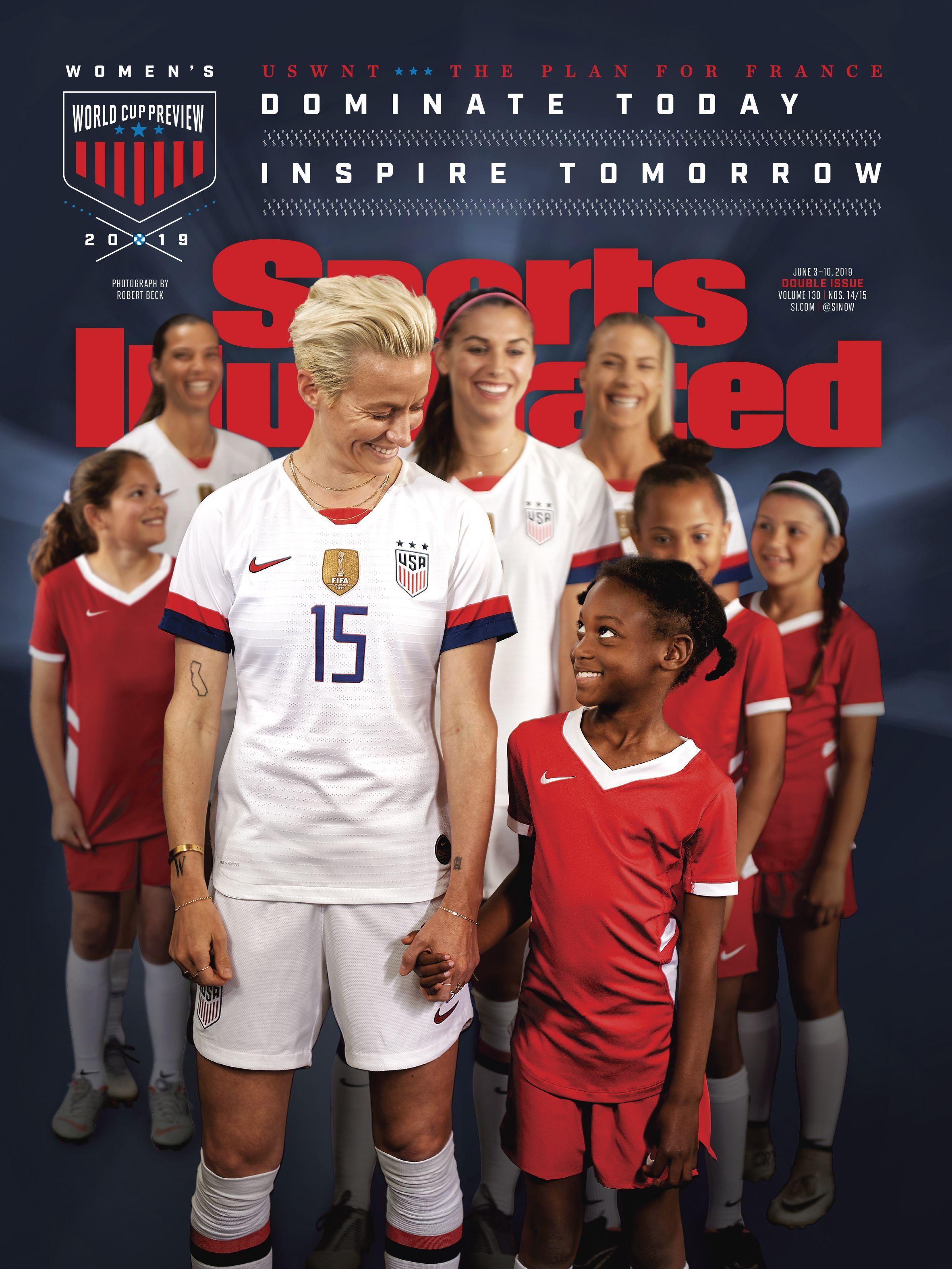 Megan Rapinoe Front Rear L R Tobin Heath Alex Morgan And Julie Ertz Uswnt Sports Illustrated 2019 Women S World Cu Usa Soccer Women Uswnt Megan Rapinoe