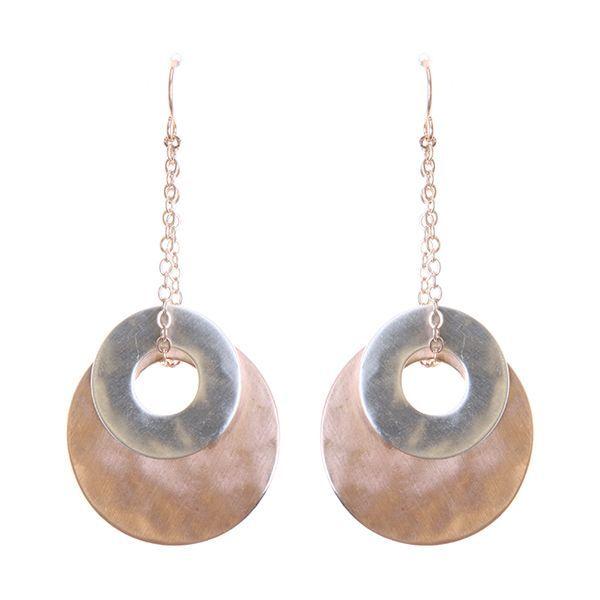 Lightweight Geometric Brass Earrings
