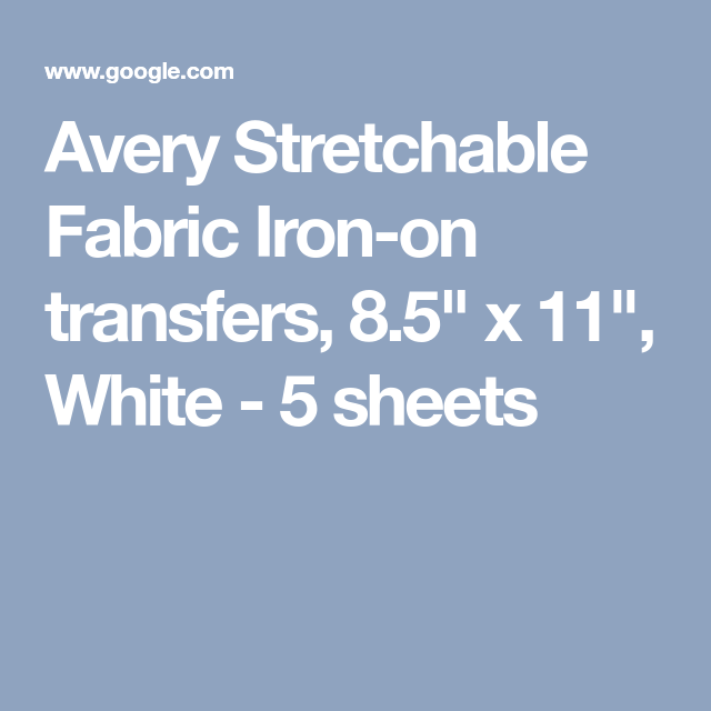 image about Avery Printable Vinyl called Avery Stretchable Cloth Iron-upon transfers, 8.5\