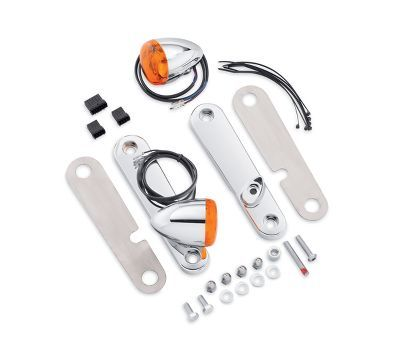 Custom Touring Bullet Front Turn Signal Kit-69577-06A